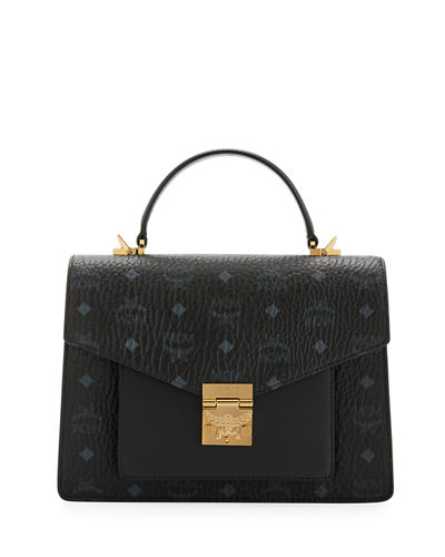 Patricia Visetos Logo Satchel Bag