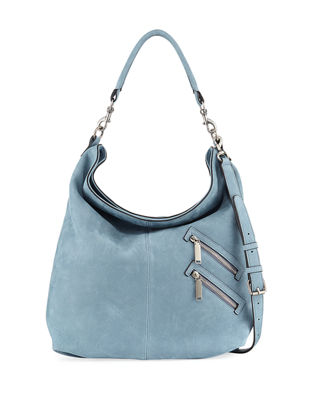 Jamie Convertible Nubuck Hobo Bag