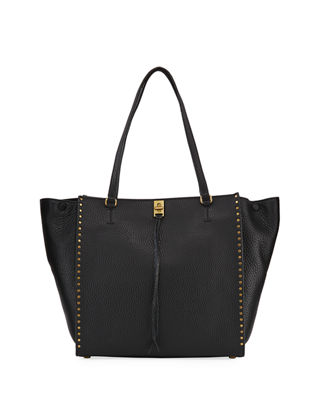 Darren Pebbled Studded Tote Bag