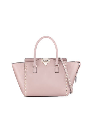 Rockstud Small Leather Shopper Tote Bag