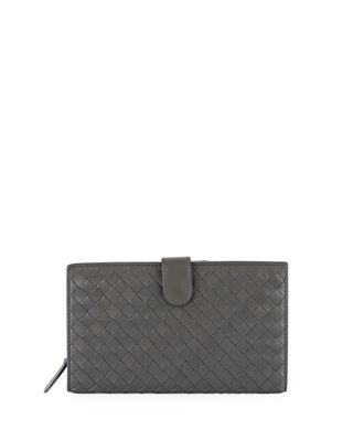 Bottega Veneta Woven Continental Wallet