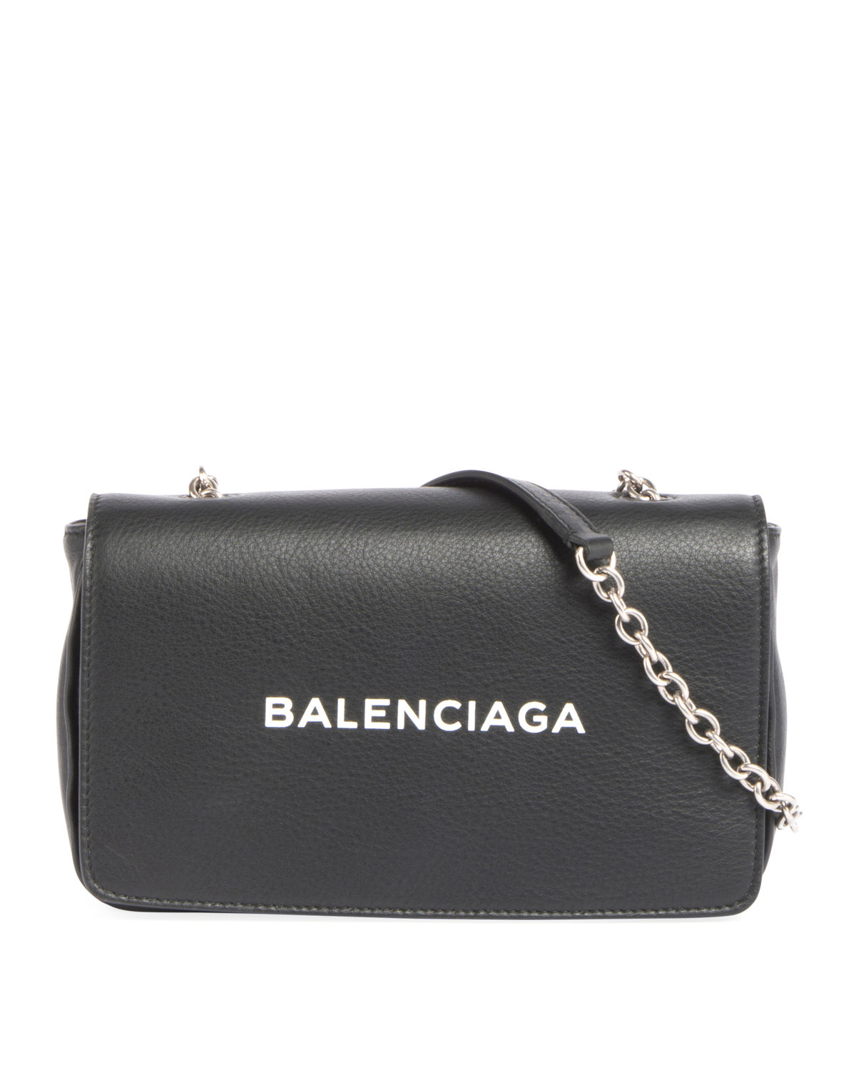 Logo Leather Wallet on Chain