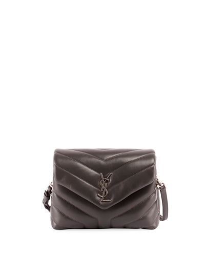 76fca364ad Saint Laurent Gray Logo Handbag