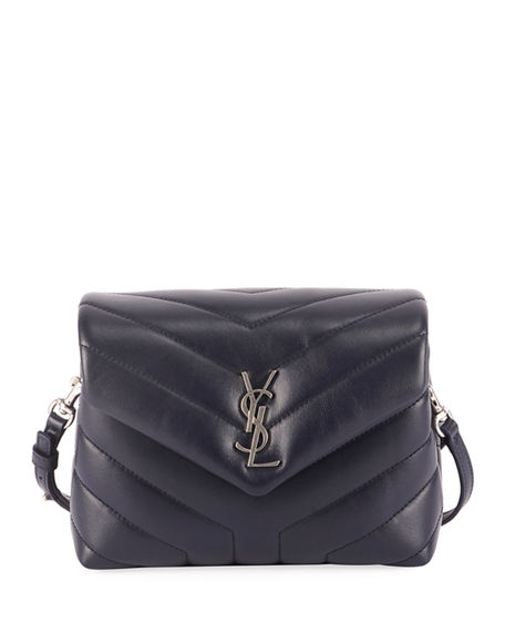 Image 1 of 3: Saint Laurent Loulou Toy Matelasse Calfskin V-Flap Crossbody Bag