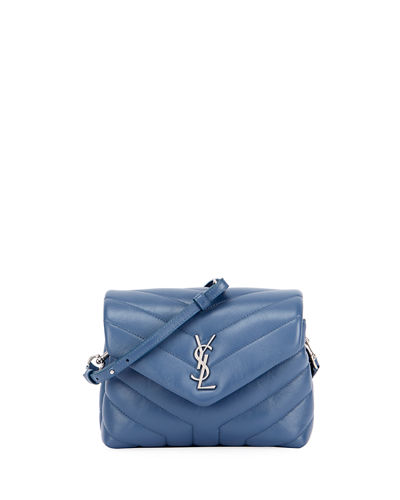 Saint Laurent Loulou Monogram Mini V-Flap Calf Leather