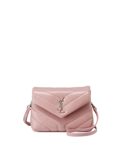 Loulou Monogram Mini V-Flap Calf Leather Crossbody Bag - Nickel Oxide Hardware