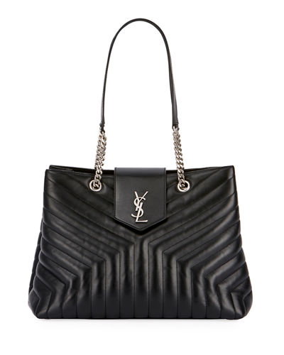 Loulou Monogram YSL Medium Quilted Shoulder Bag