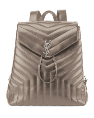 a9194d3133 Saint Laurent Loulou Monogram YSL Medium Quilted Leather Backpack