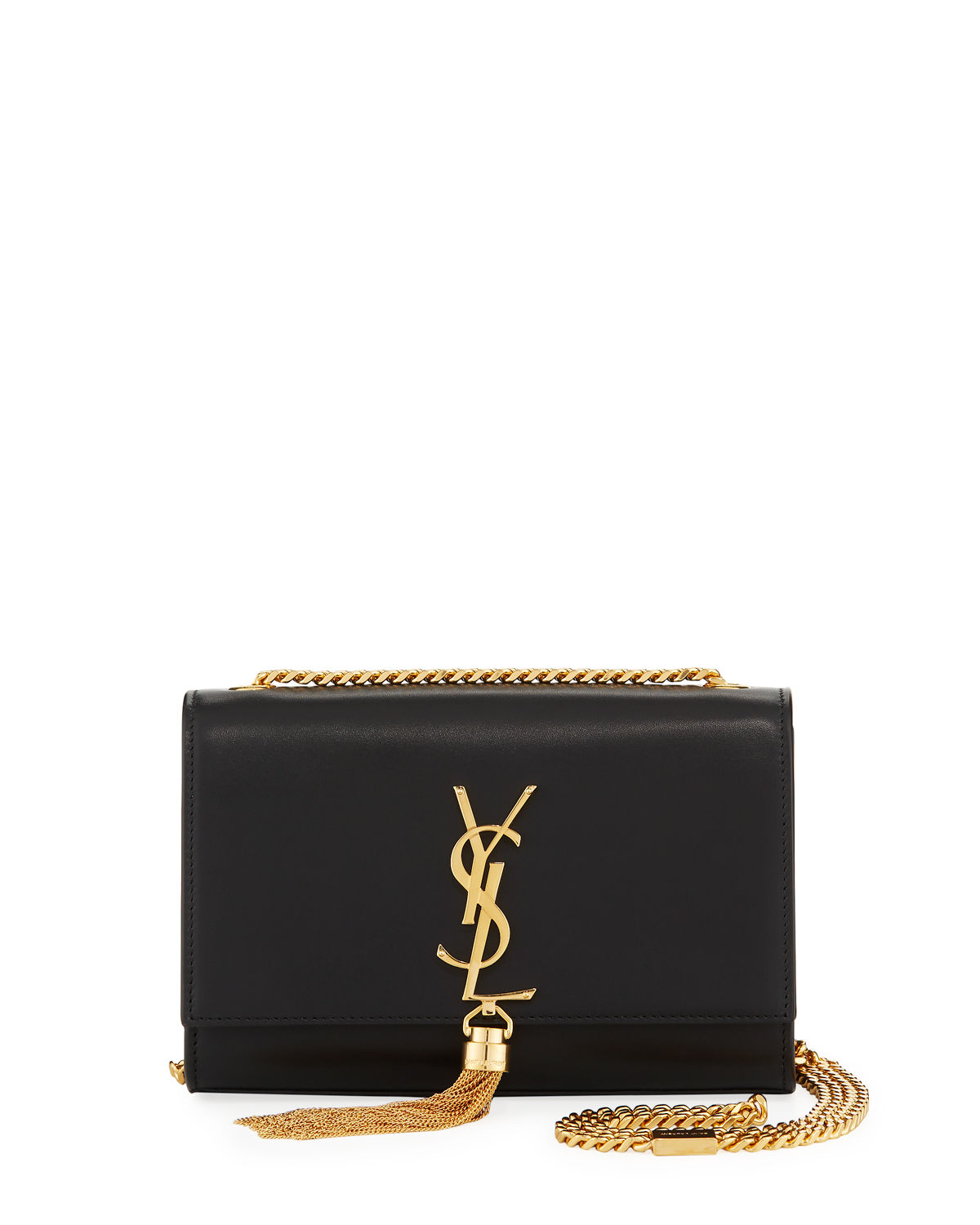 ae83c5af932 Saint Laurent Kate Monogram YSL Small Tassel Shoulder Bag with Golden  Hardware