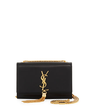 6586e2cb1a6e Saint Laurent Kate Monogram YSL Small Tassel Shoulder Bag with Golden  Hardware