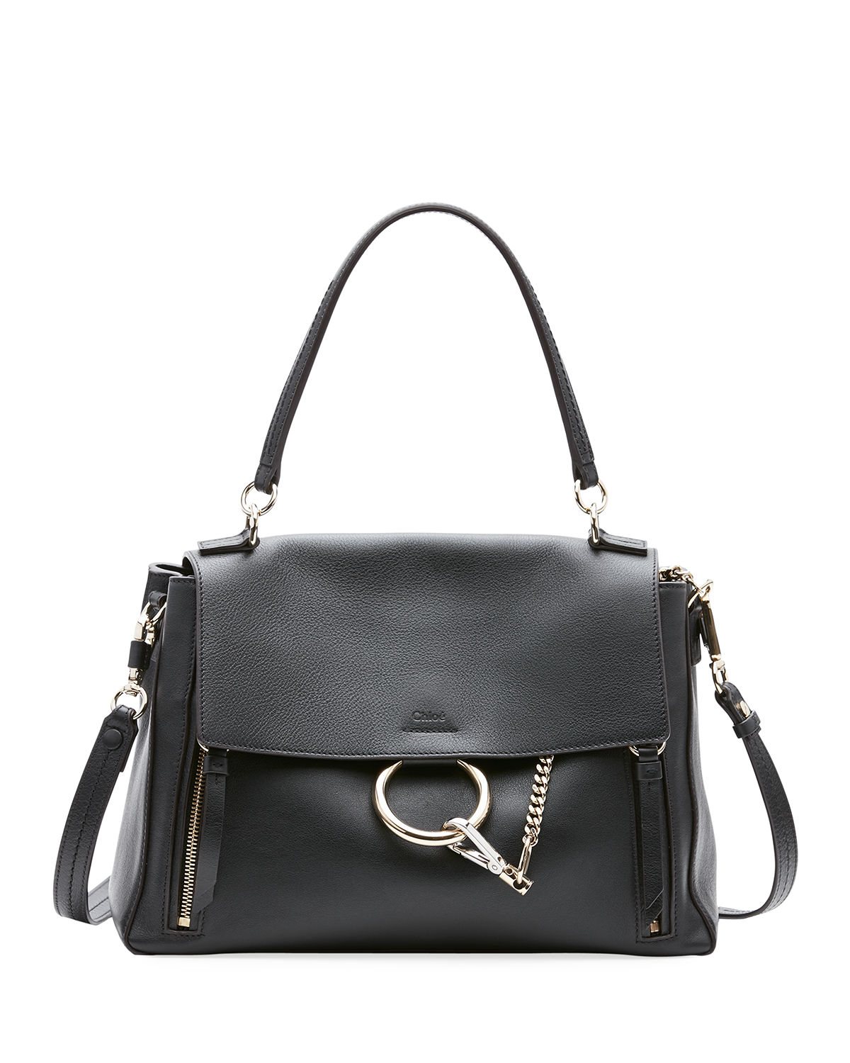 Chloe Faye Day Small Pebbled Ring Shoulder Bag  24967751be079