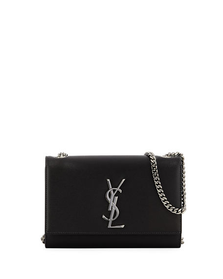 Saint Laurent Kate Small Grain De Poudre Shoulder Bag on Chain