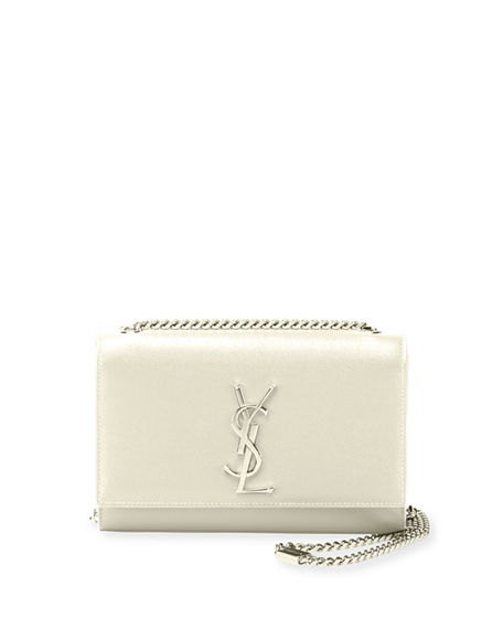 Image 1 of 2: Saint Laurent Kate Small Grain De Poudre Shoulder Bag on Chain