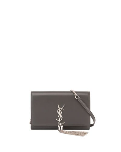 Saint Laurent Kate Monogram YSL Tassel Wallet on