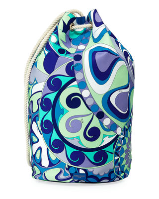 Image 1 of 4: Nigeria Printed Oversized Bucket Bag