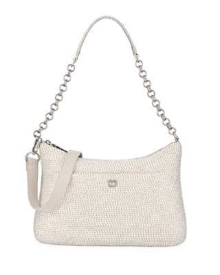 Eric Javits Powchky Zip-Top Shoulder Bag