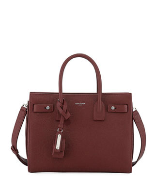 Sac De Jour Baby Supple Bonded Leather Tote Bag in Red