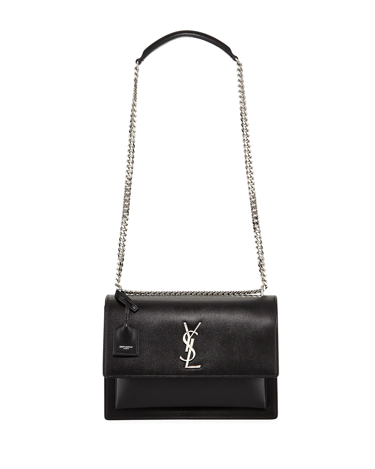 0cb312fd13c Saint Laurent Sunset Large Monogram YSL Shoulder Bag | Neiman Marcus