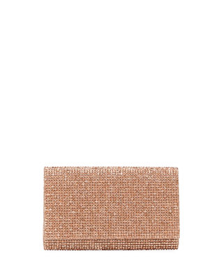Crystal-Embellished Shoulder Bag in Rose