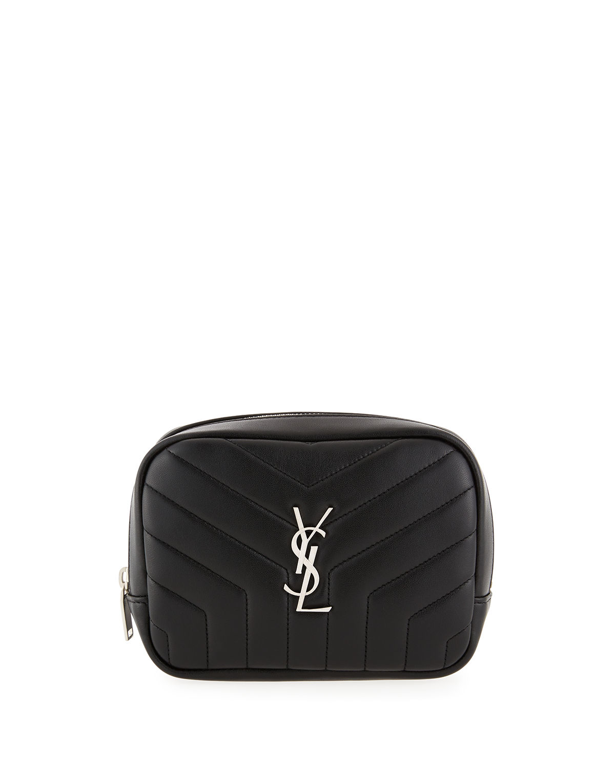 Loulou Monogram Square Quilted Leather Cosmetics Case