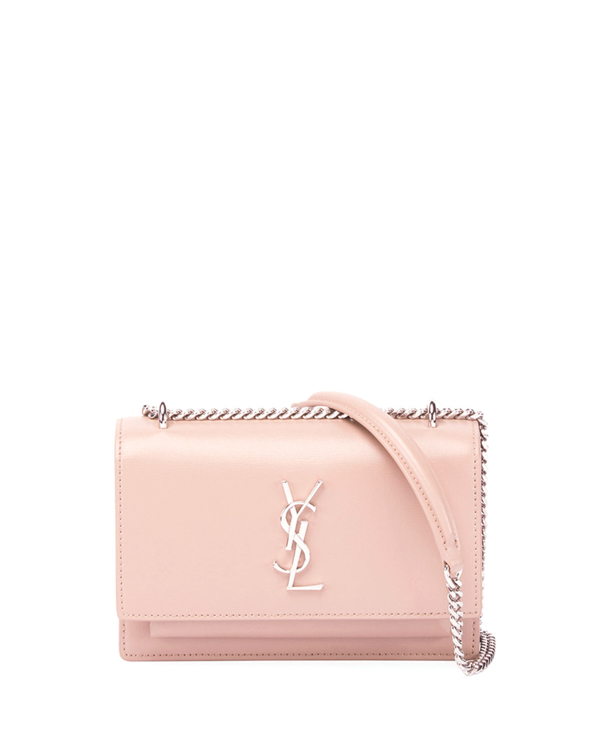 eb62a7b32d Saint Laurent Sunset Monogram YSL Small Calf Leather Wallet on Chain ...