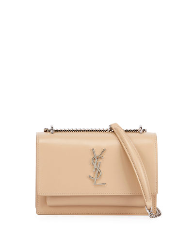 Sunset Monogram YSL Small Calf Leather Wallet on Chain