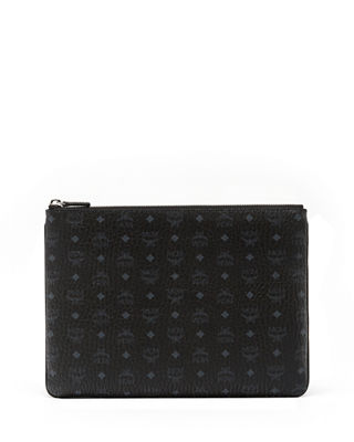 Medium Visetos Original Crossbody Pouch, Black