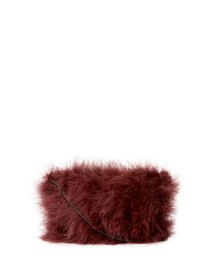 Maribou Feather Mini Crossbody Bag
