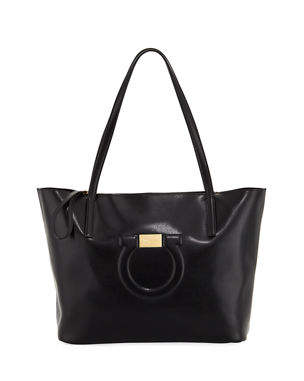 169d628e58 Salvatore Ferragamo Medium City Leather Shoulder Tote Bag