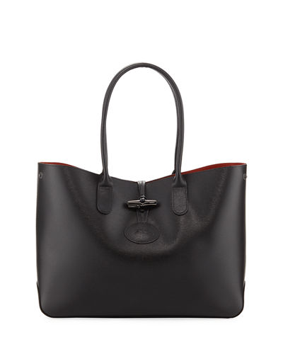 Roseau Leather Shoulder Tote Bag