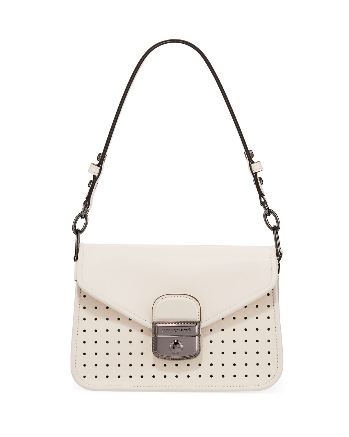 Longchamp Mademoiselle Longchamp Small Crossbody in Natural   Neiman ... 244eb0df27