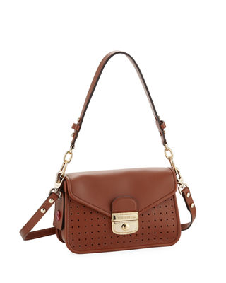 Longchamp Mademoiselle Longchamp Small Crossbody in Natural