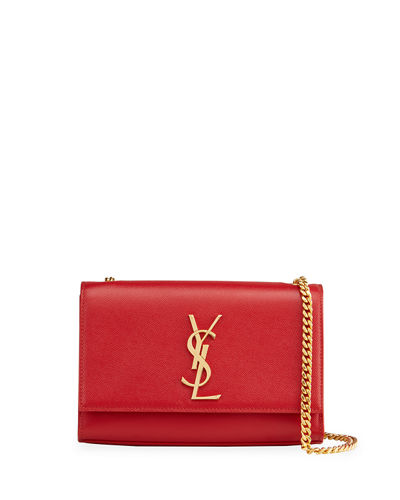 Saint Laurent Kate Monogram YSL Small Grain Leather Crossbody Bag
