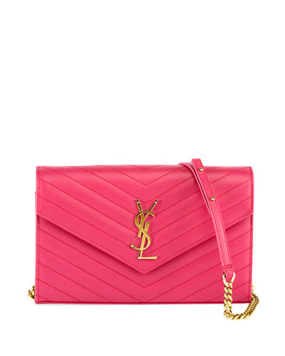 Matelasse Monogram YSL Wallet on Chain
