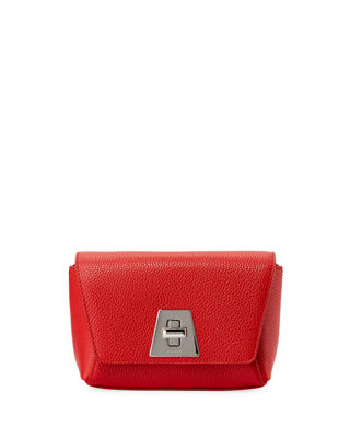 AKRIS Anouk Little Day Calf Leather Crossbody Bag in Red