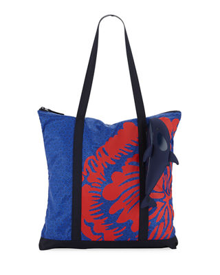 Image 1 of 4: Packable Orca Printed Tote Bag
