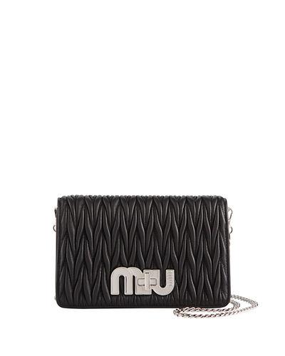 Matellassé Leather Shoulder Bag