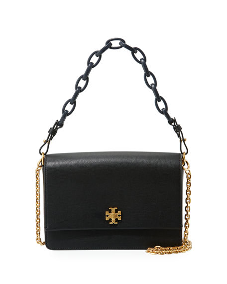 Tory Burch Kira Leather Shoulder Bag Black
