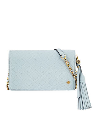 Tory Burch Fleming Quilted Convertible Wallet Crossbody Bag