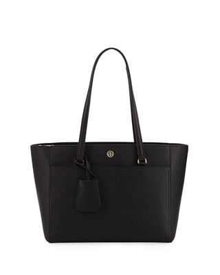 Image 1 of 3: Robinson Small Saffiano Leather Zip-Top Shoulder Tote Bag