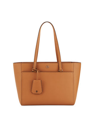 Tory Burch Robinson Small Saffiano Leather Zip Top Shoulder Tote Bag