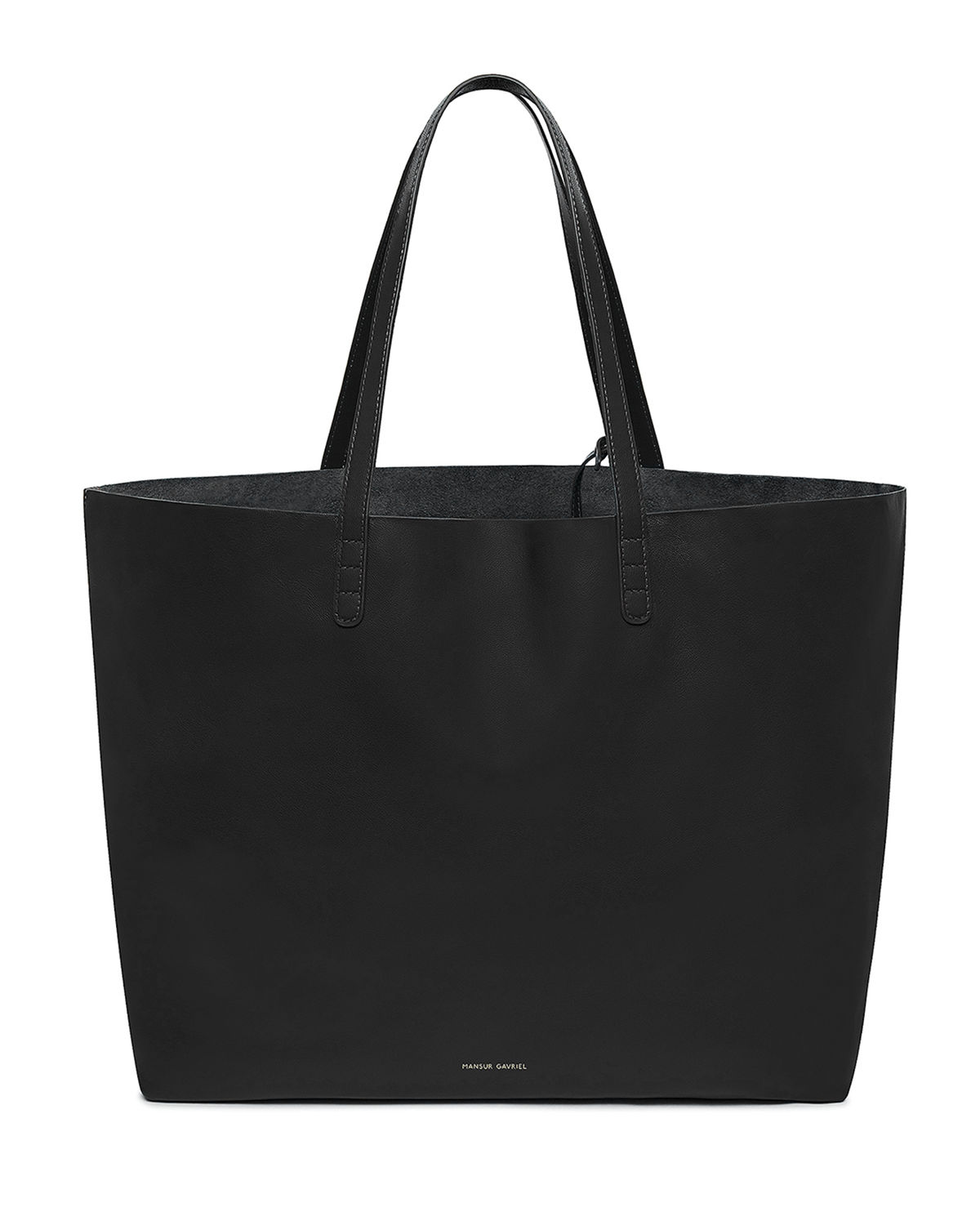 a062515b432 Oversized Lamb Leather Tote Bag