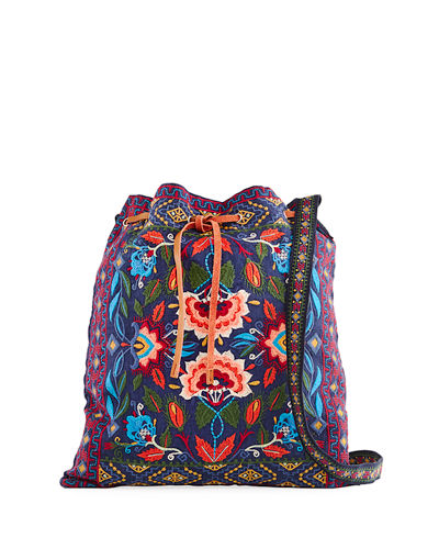 Izamal Embroidered Heavy Linen Tote Bag