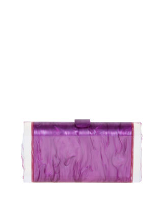Edie Parker Lara Backlit Acrylic Clutch Bag