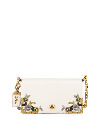 Coach 1941 Dinky Tea Rose Metal-Flower Crossbody Bag