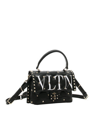 Image 3 of 4: VLTN Spike Medium Top-Handle Shoulder Bag