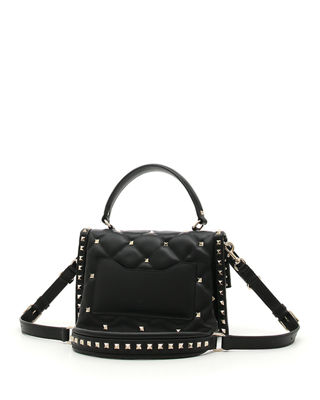Image 4 of 4: VLTN Spike Medium Top-Handle Shoulder Bag