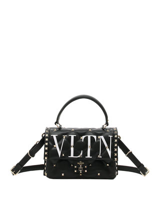 Image 1 of 4: VLTN Spike Medium Top-Handle Shoulder Bag