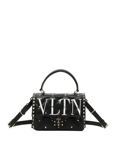 Valentino Garavani VLTN Spike Medium Top-Handle Shoulder Bag