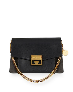 a87e0a3c10bf Givenchy GV3 Small Pebbled Leather Crossbody Bag